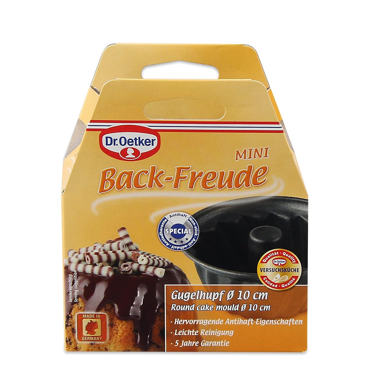 10 cm Acero Negro Dr Oetker Back-Freude Classic Molde Bundt