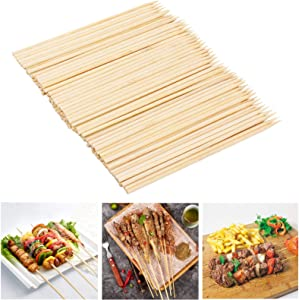 Fu Store Bamboo Skewers 6 Inch 100 Pack Bamboo Sticks Shish Kabob Skewers,Grill, Appetizer, Fruit, Corn, Chocolate Fountain, Cocktail