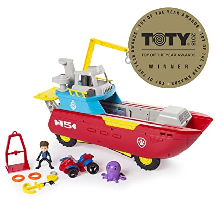 04eb6504cb Amazon.com: PAW Patrol Sea Patrol - Sea Patroller Transforming Vehicle with  Lights & Sounds, Ages 3 & Up: Toys & Games