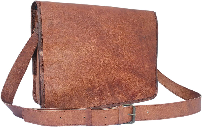 Brown 156 Vintage Brown Leather Messenger Bag