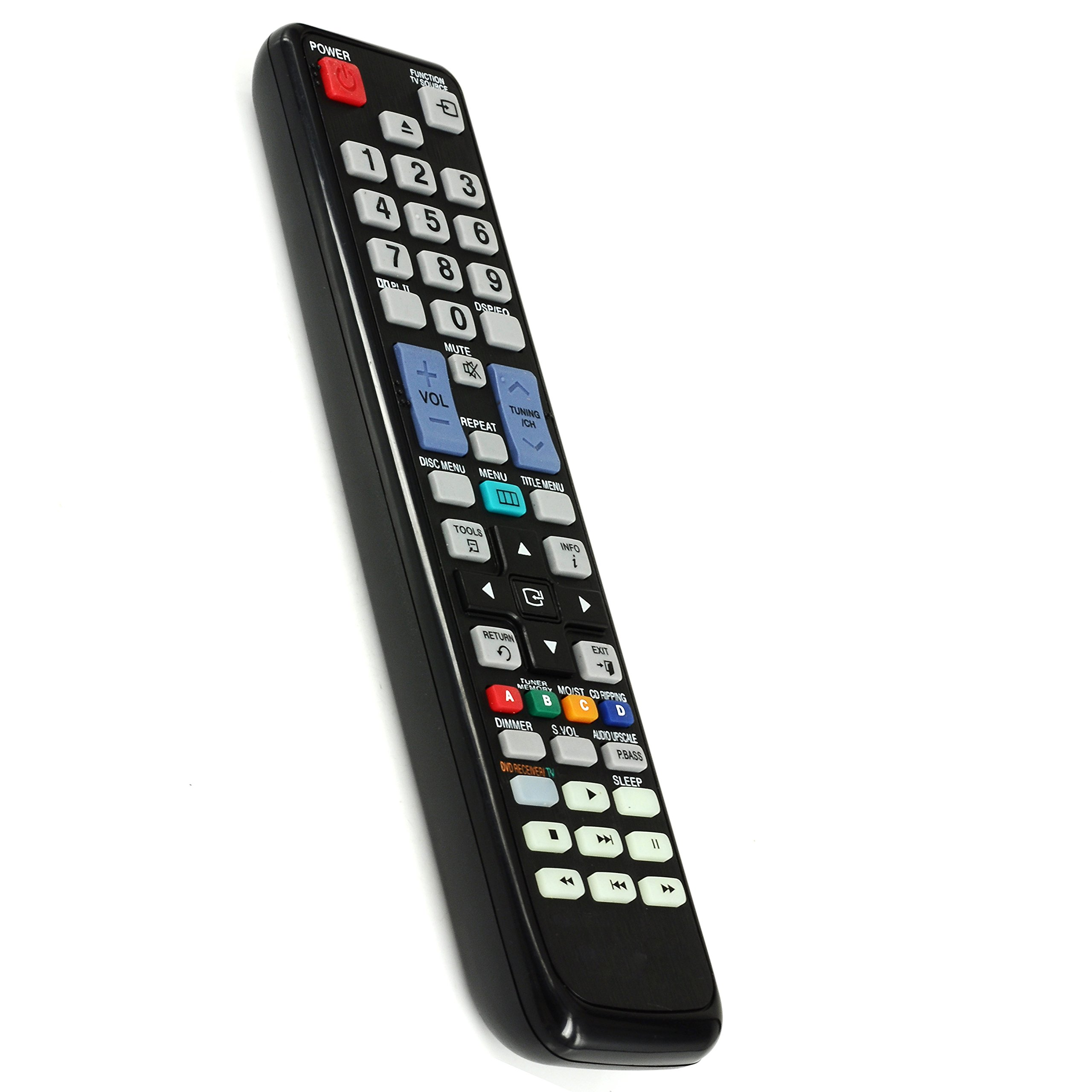 Universal Remote for Samsung Home Theater System HTC550 HT-C550 HT-C550/XAA HT-C650W BD-P1400 BD-UP5000 HT-BD3252 HT-C5500/XAA HT-P1200 BD-P1000 HTP38 HT-P38 HTQ70 HT-Q70 HTX50 HT-X50