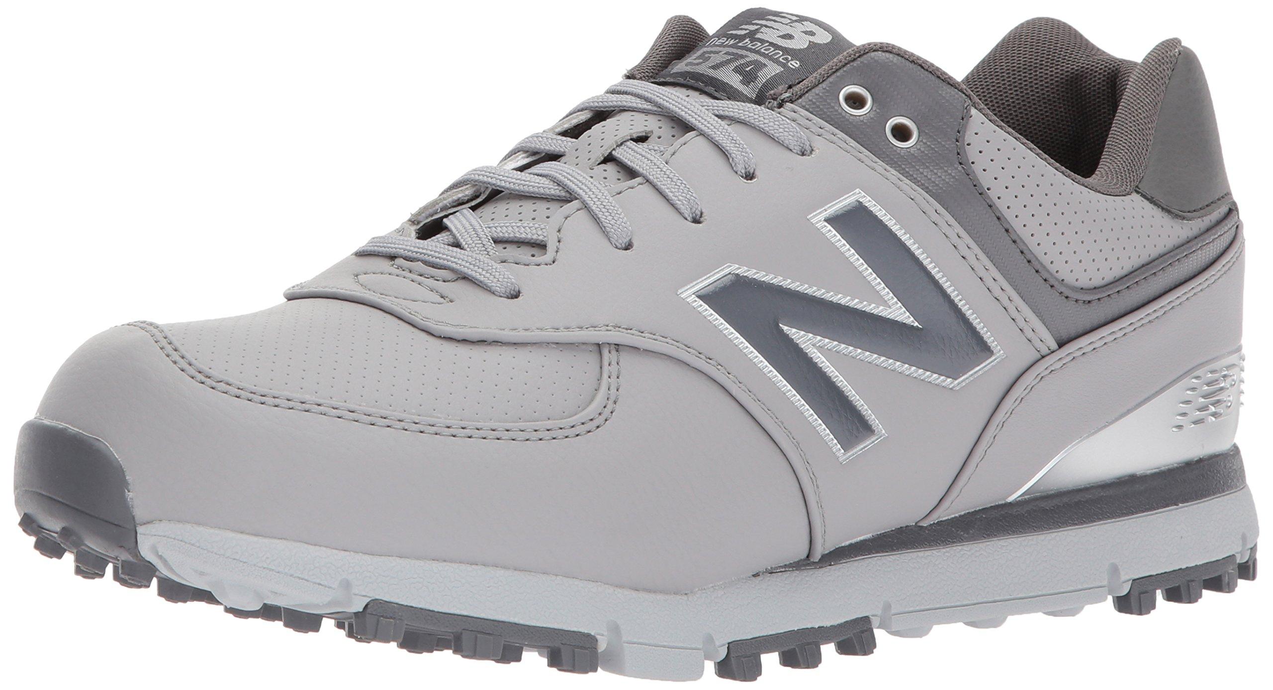 New Balance Men's 574 SL Golf Shoe, Grey/Silver, 10.5 2E 2E US by New Balance