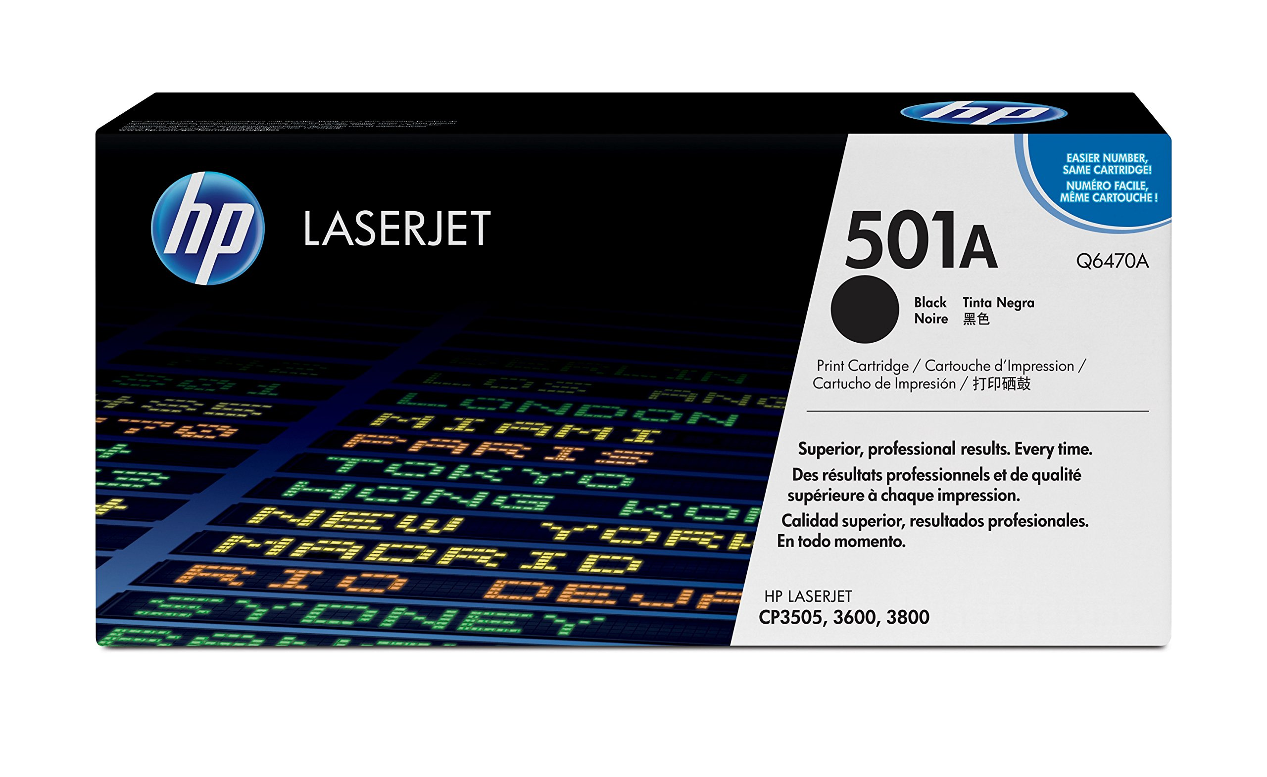 HP 501A (Q6470A) Black Original Toner Cartridge