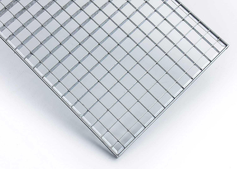 490x790 mm 20 mm hoch K60 Baunorm Gitterrost//verzinkt//MW 30x30