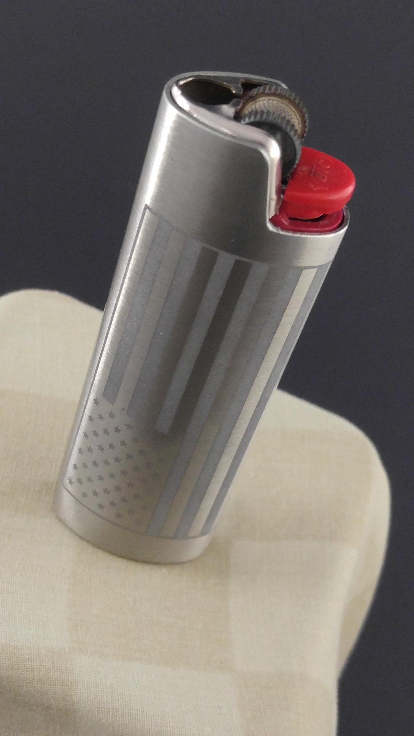 BIC Lighter Cover Metal Blank - American Flag and USA (MANY COLORS)