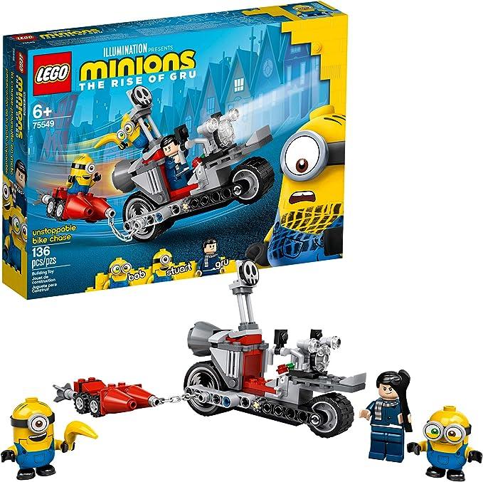 Amazon.com: ערכת בניית מיניונים בלתי ניתנת לעצירה של לגו מיניונים (75549), עם דמויות בוב, סטיוארט וגרו מיניון, מתנה נהדרת ליום הולדת לאוהדי מיניונים, חדש 2020 (136 חלקים): Toys & Games