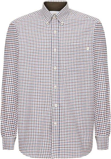 LE CHAMEAU 1927 Swinbrook - Camisa para Hombre, diseño de Cuadros, Color Azul Marino: Amazon.es: Ropa y accesorios