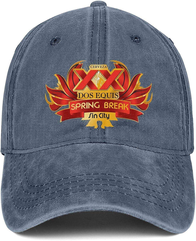Men Dos-Equis-Logo Adjustable Baseball Cap Fit Trucker Hat Cotton Trendcaps