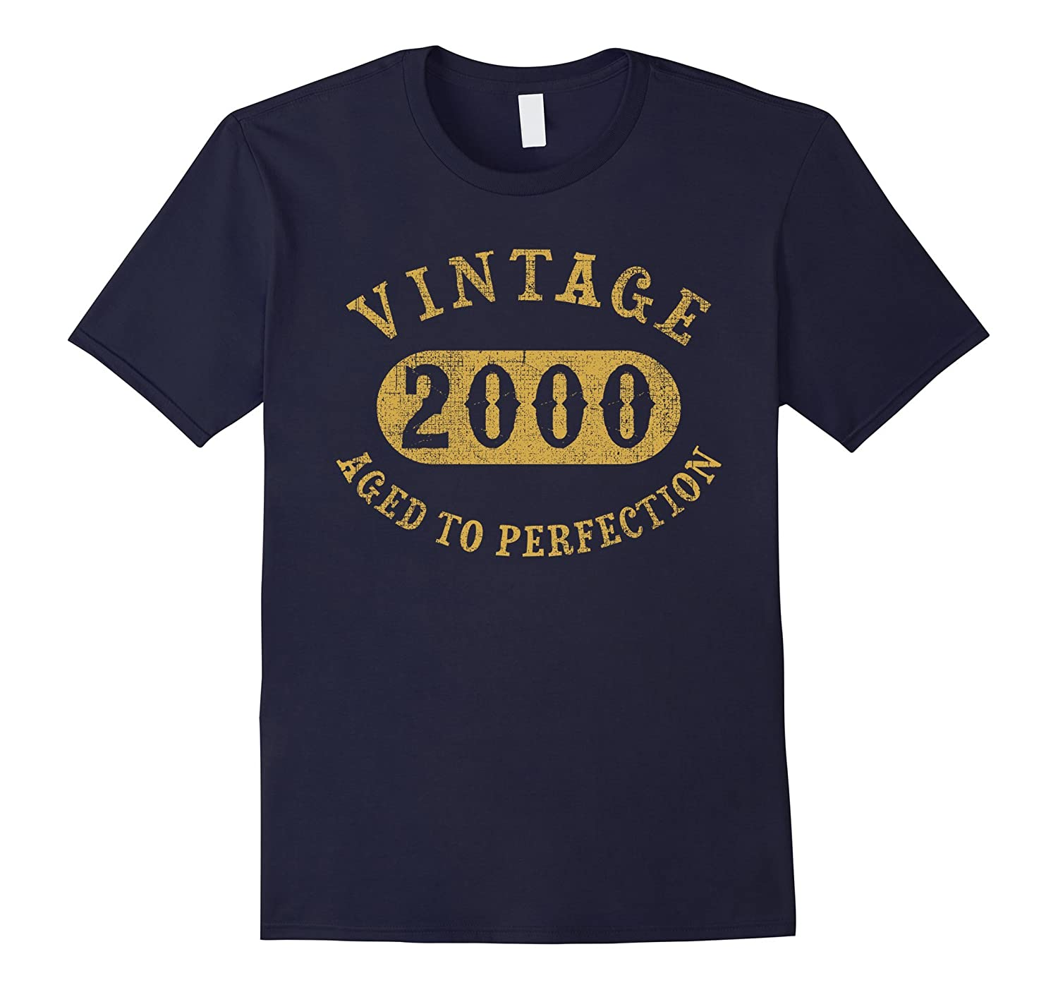 17 years old 17th Birthday B-day Gift Vintage 2000 T-Shirt-TD