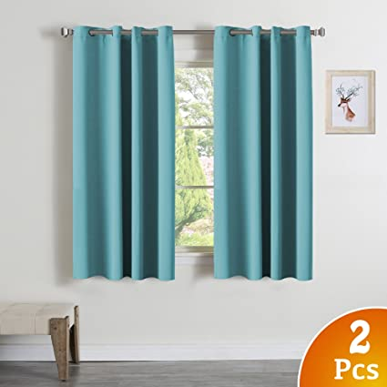 Famous Amazon.com: Turquoize Blackout Curtains Panels for Bedroom - Ultra  SK95