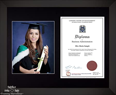 Large Black Wooden Frame A4 10x8 Photo 8x10 Picture Certificate ...
