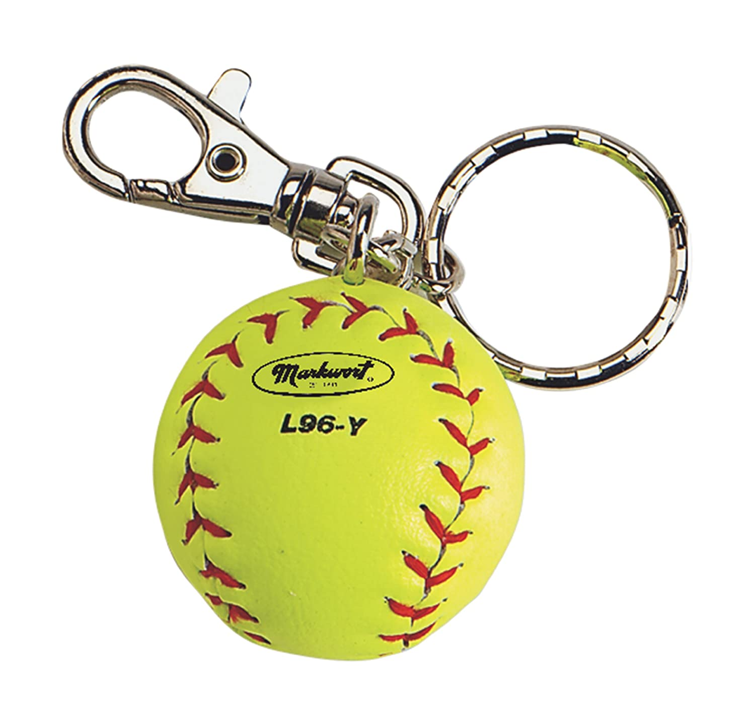 Markwort Baseball Miniature Key Ring-Box of 12 (Yellow) MIL96-Y
