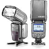 Neewer® NW-985C E-TTL 4-Couleur TFT Affichage d'Ecran *High-Speed Sync* Flash Esclave Speedlite avec Diffuseur de Flash pour Canon EOS 700D/T5i 650D/T4i 600D/T3i 1100D/T3 550D/T2i 500D/T1i 100D/SL1 400D/XTi 450D/XSi 300D/Digital Rebel 20D 30D 60D 5D Mark III 5D Mark II et Tous les canon Reflex Numérique
