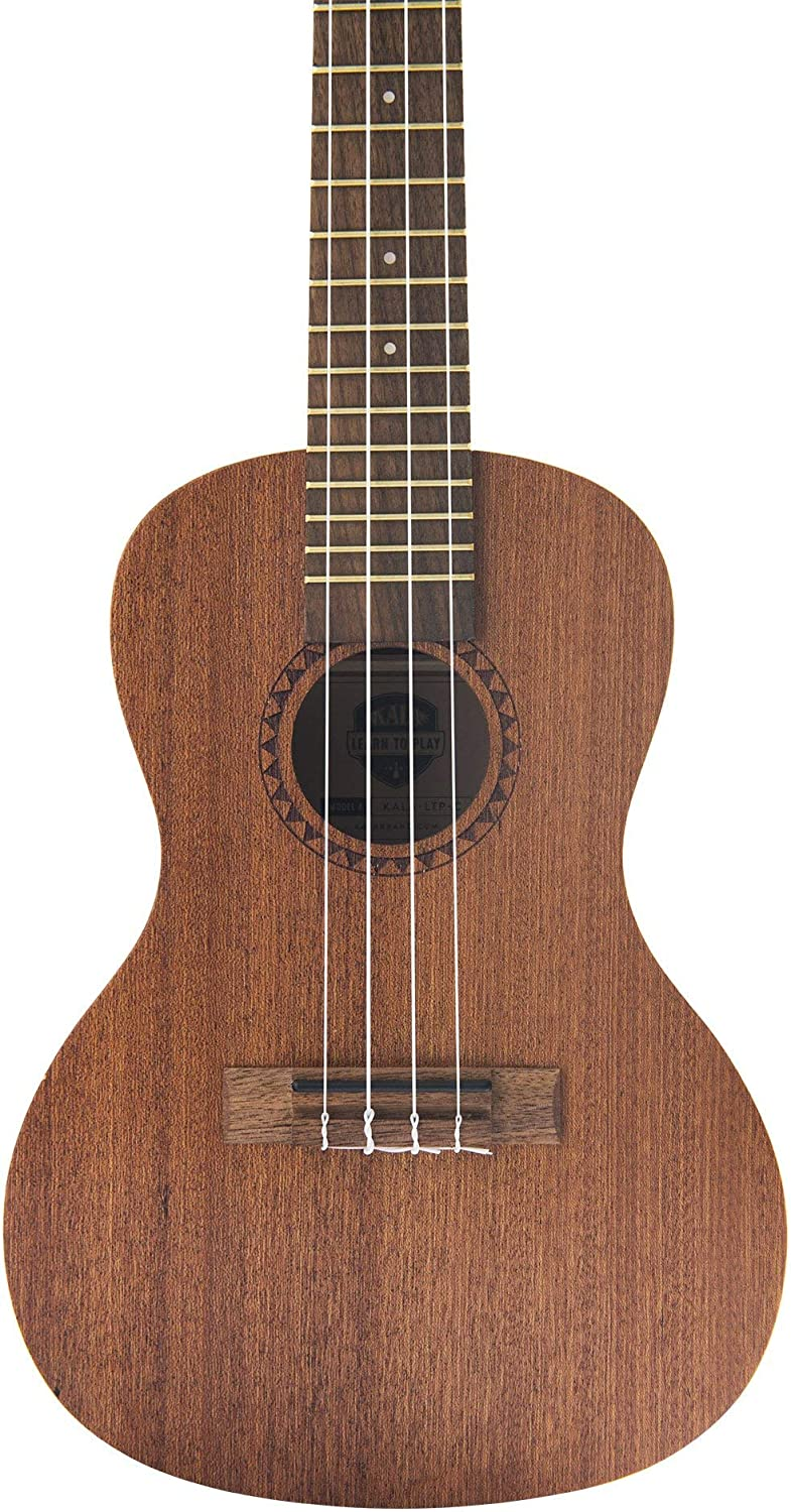 Renewed Satin Mahogany KALA-LTP-C Official Kala Learn to Play Ukulele Concert Starter Kit and booklet Includes online lessons tuner app