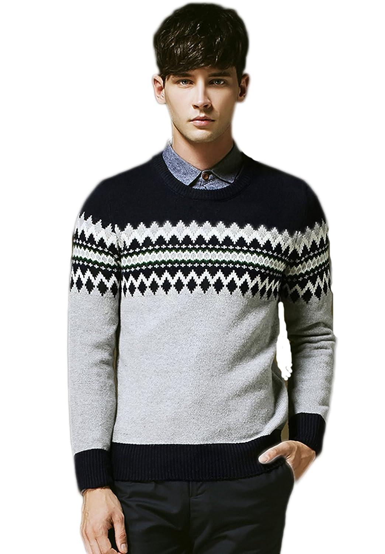 men's European style fashion long-sleeved sweater retro sweater coat