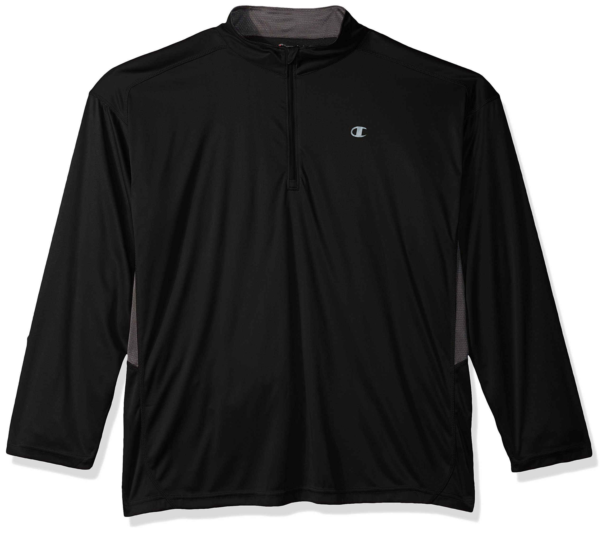 Champion Men's Big and Tall 1/4 Zip Pullover with Lc c, Black/Stealth, 3X by Champion