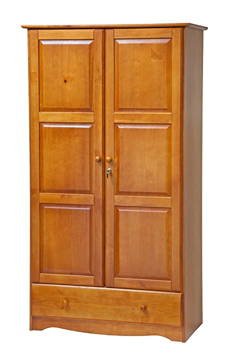 High Quality 100% Solid Wood Universal Wardrobe/Armoire/Closet By Palace Imports, Honey  Pine