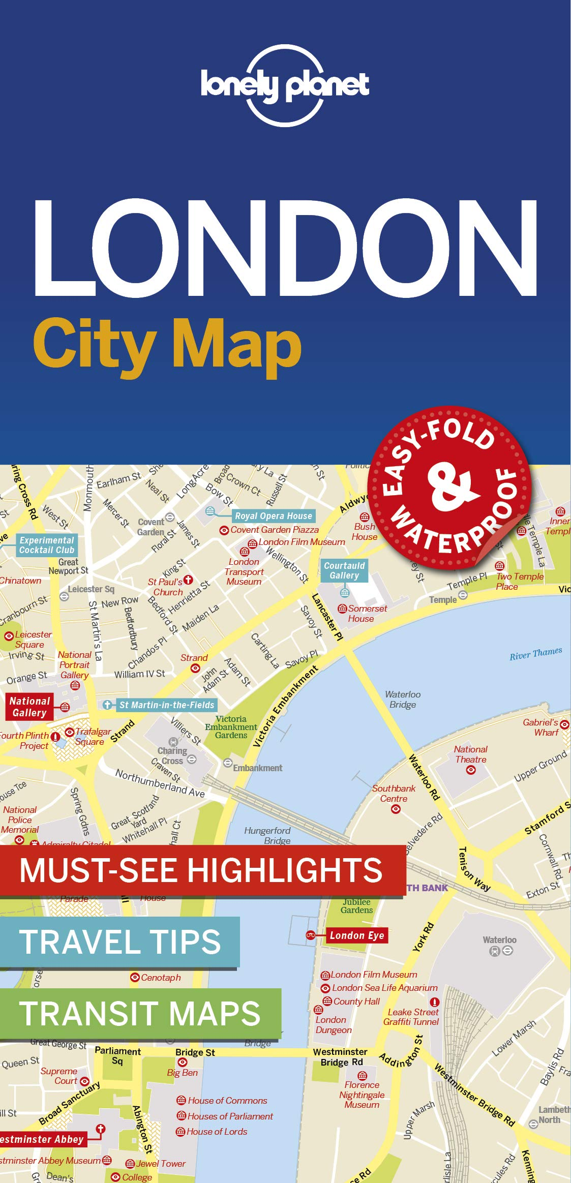 Easy London Map.Lonely Planet London City Map 1st Ed Lonely Planet 9781786574138