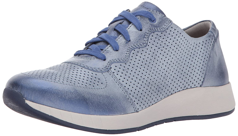 Dansko Women's Christina Lace-Up Athletic Shoe B01NBR0GSB 41 M EU|Blue Metallic