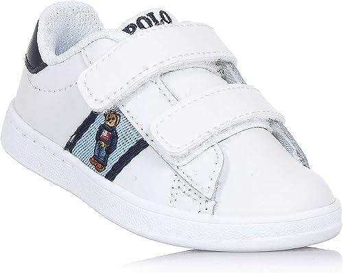 Polo Ralph Lauren - Zapatos Blancos de Piel, con Doble Cierre de ...