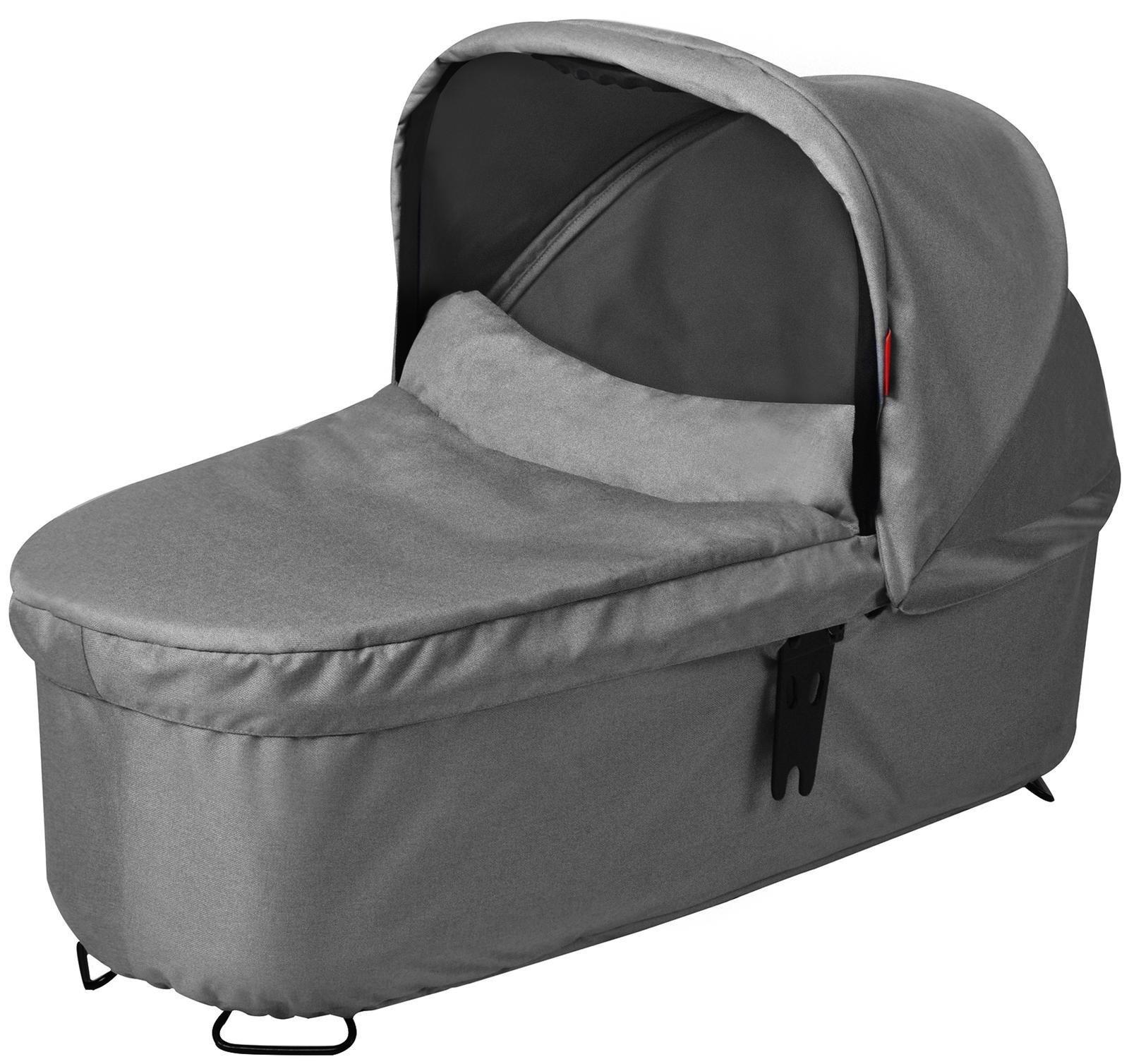 phil&teds Snug Carrycot for Dash Stroller, Grey Marl