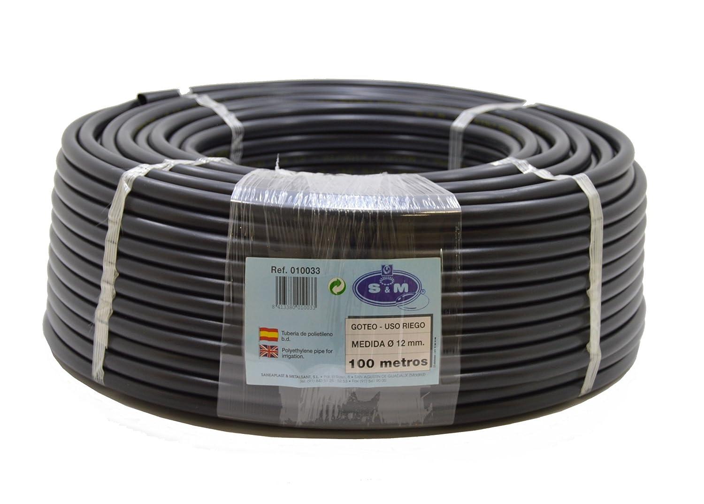 S&M S&M 010033–Drip Pipe, 12mm x 100m, black.