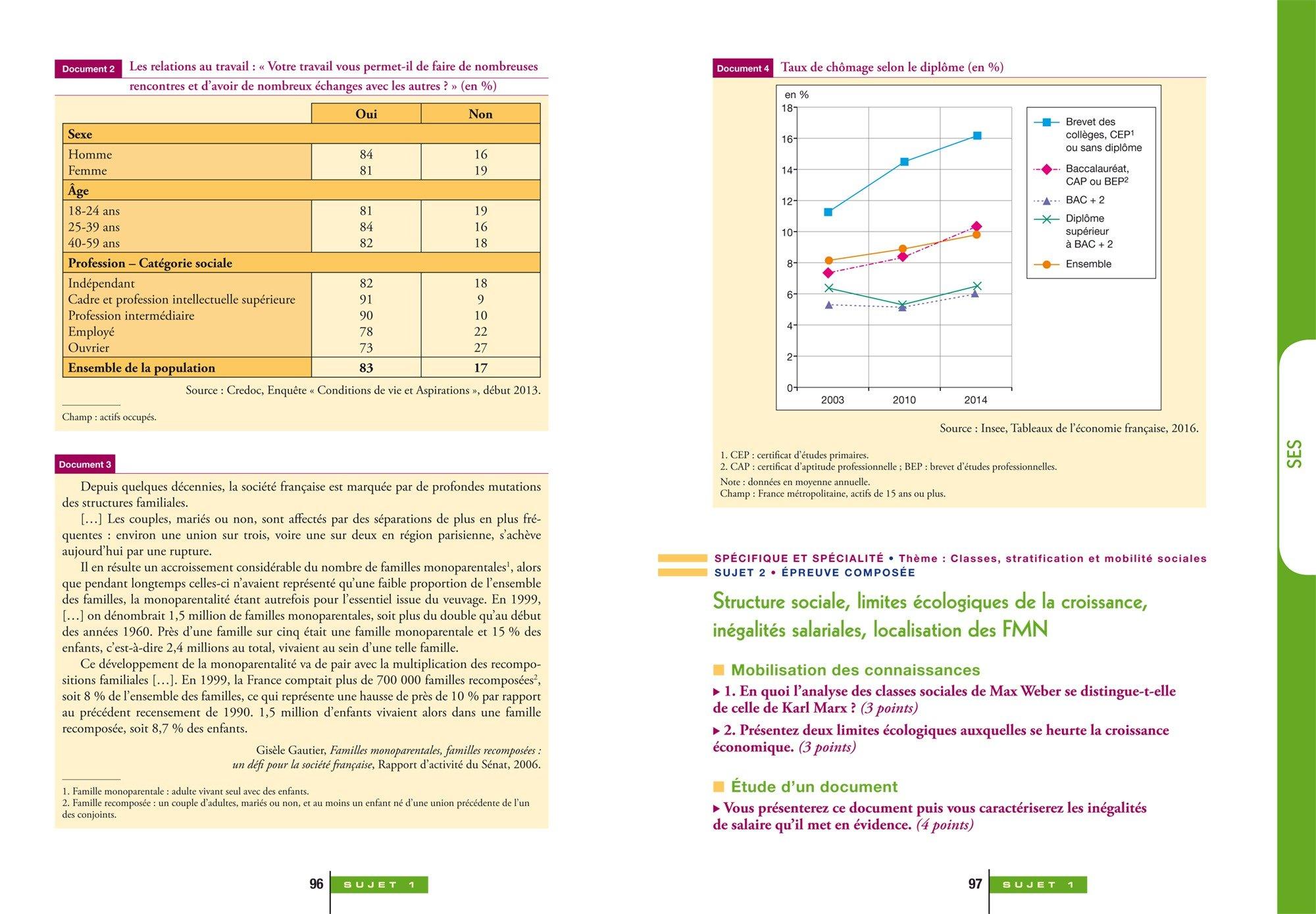 Annales Annabac 2018 Lintégrale Bac ES: sujets et corrigés en maths, SES, histoire-géographie, philosophie et langues: 9782401030411: Amazon.com: Books