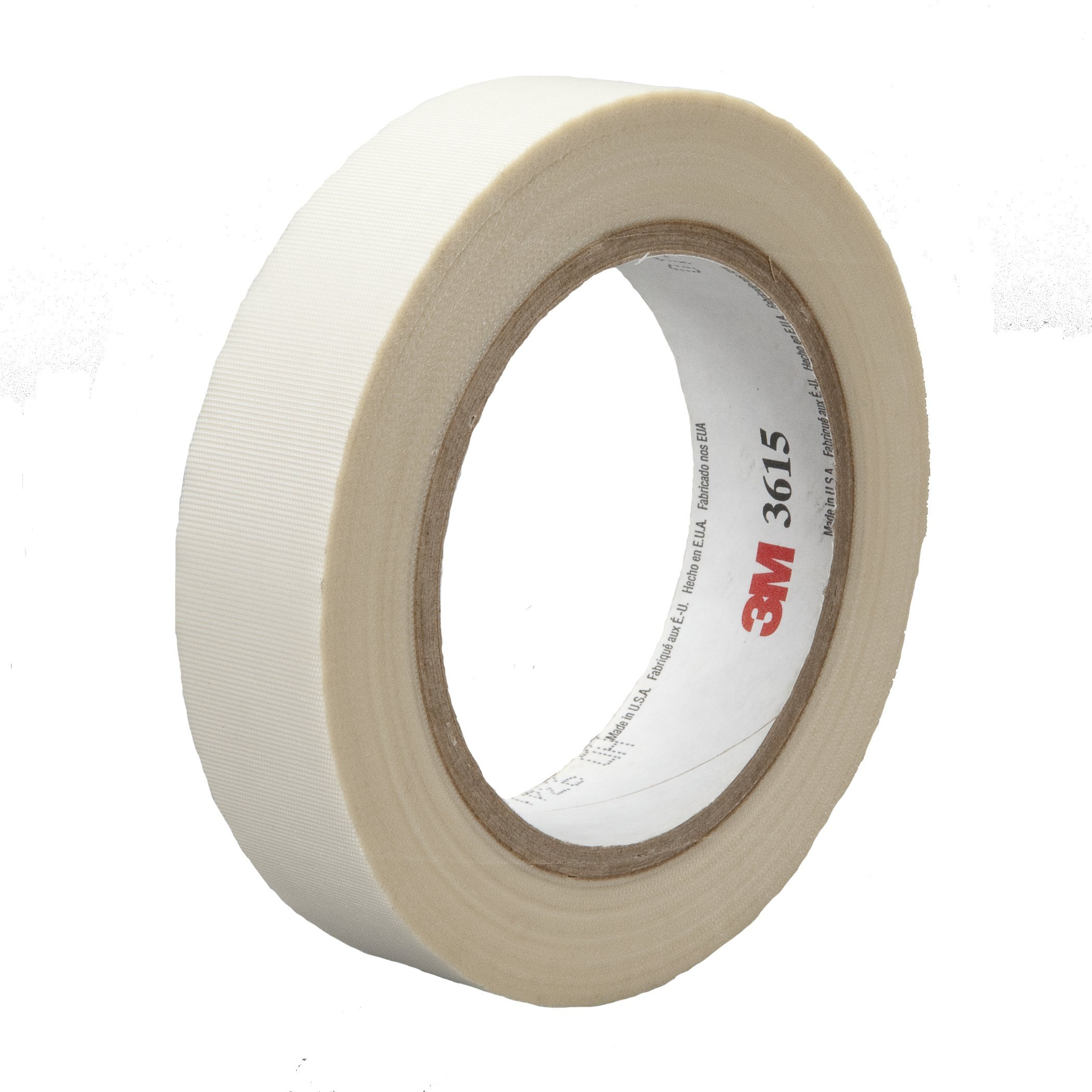 3M General Purpose Glass Cloth Tape 3615 White, 1 in x 36 yd 7.0 mil (Case of 36)
