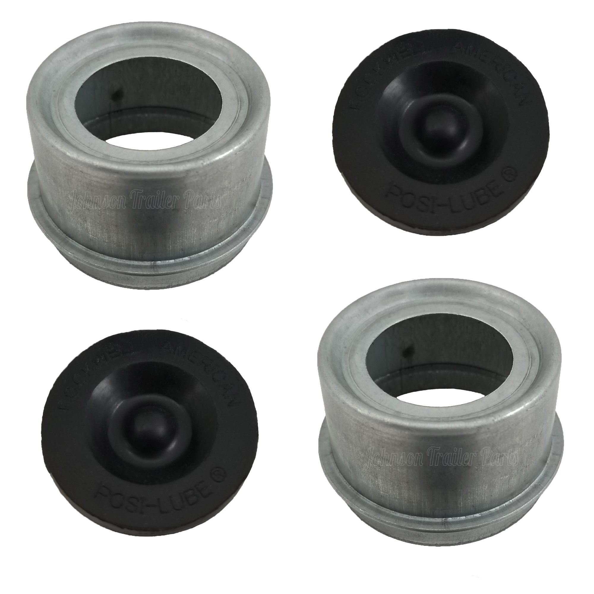 Posi-Lube Grease Cap Set - Fits Most 7,000 Axles - 2.717'' OD - Galvanized