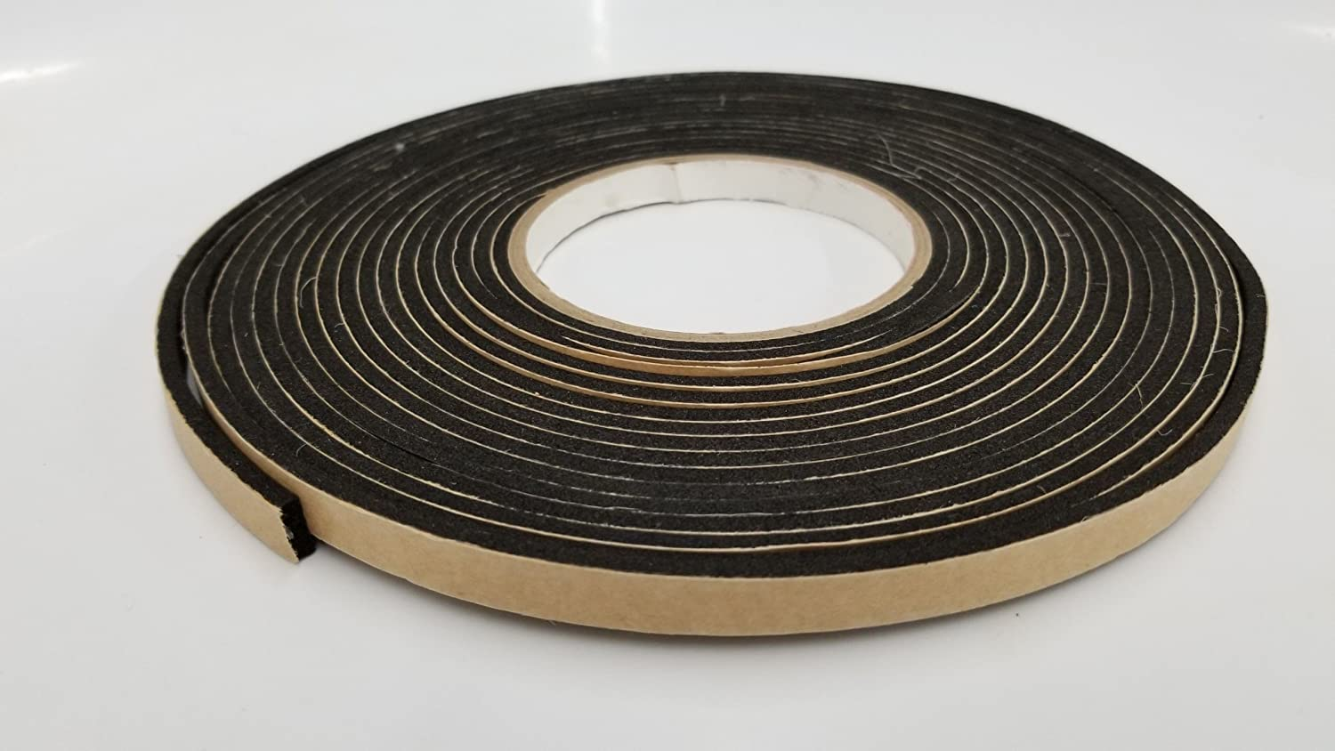 "NEOPRENE RUBBER SHEET STRIP 1//2/"" thick X 1/"" wide X 10/' PSA ADHESIVE ONE SIDE"