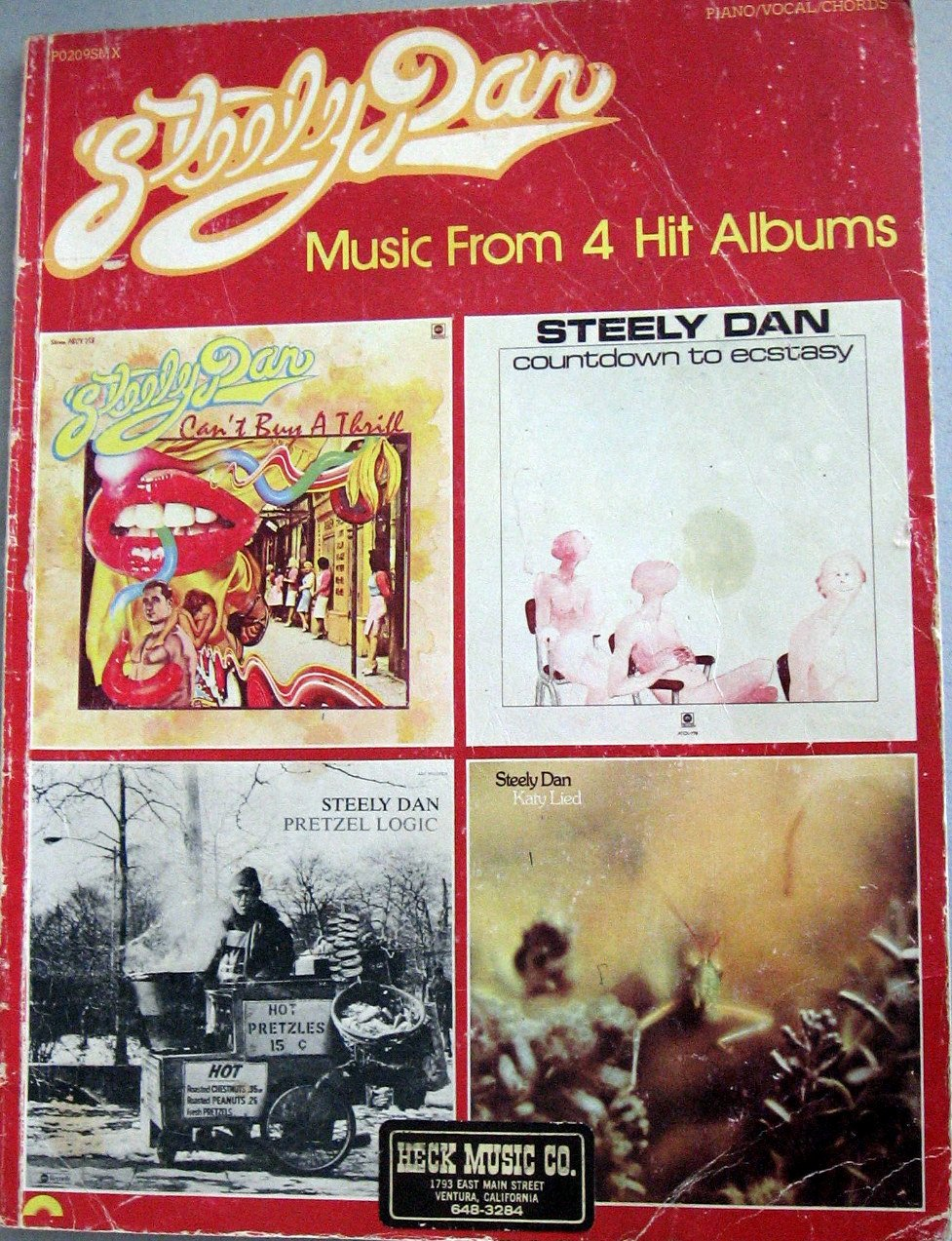 Steely dan music from 4 hit albums pianovocalchords amazon steely dan music from 4 hit albums pianovocalchords amazon books hexwebz Images