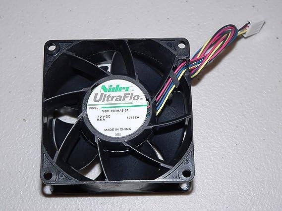 Lot of 6 Supermicro FAN-0099L4 Nidec Ultra Flo 80mm 4-Pin Cooling Case PWM Fan
