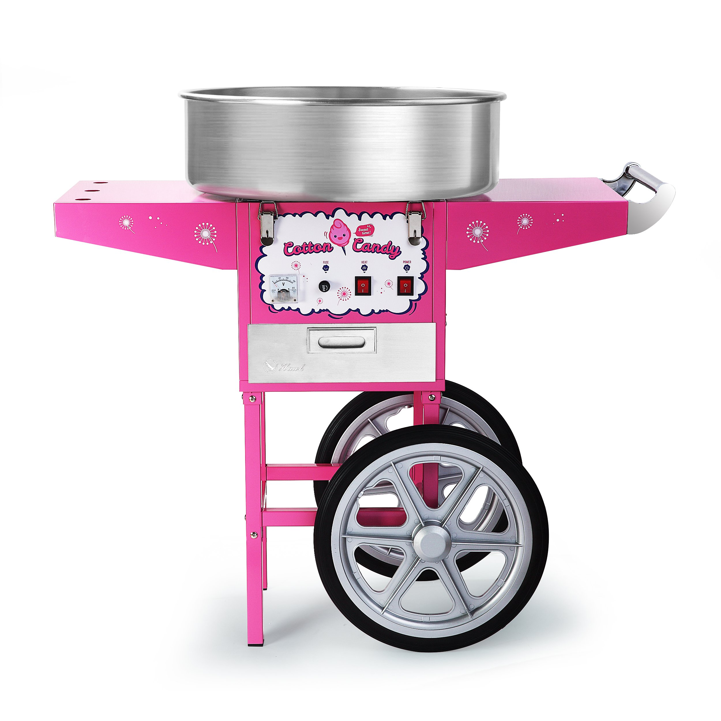 HAWK COMMERCIAL QUALITY COTTON CANDY MACHINE CART AND ELECTRIC CANDY FLOSS MAKER