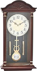 Dojana Plastic Wall Clock DWG033-LIGHT BROWN-WHITE