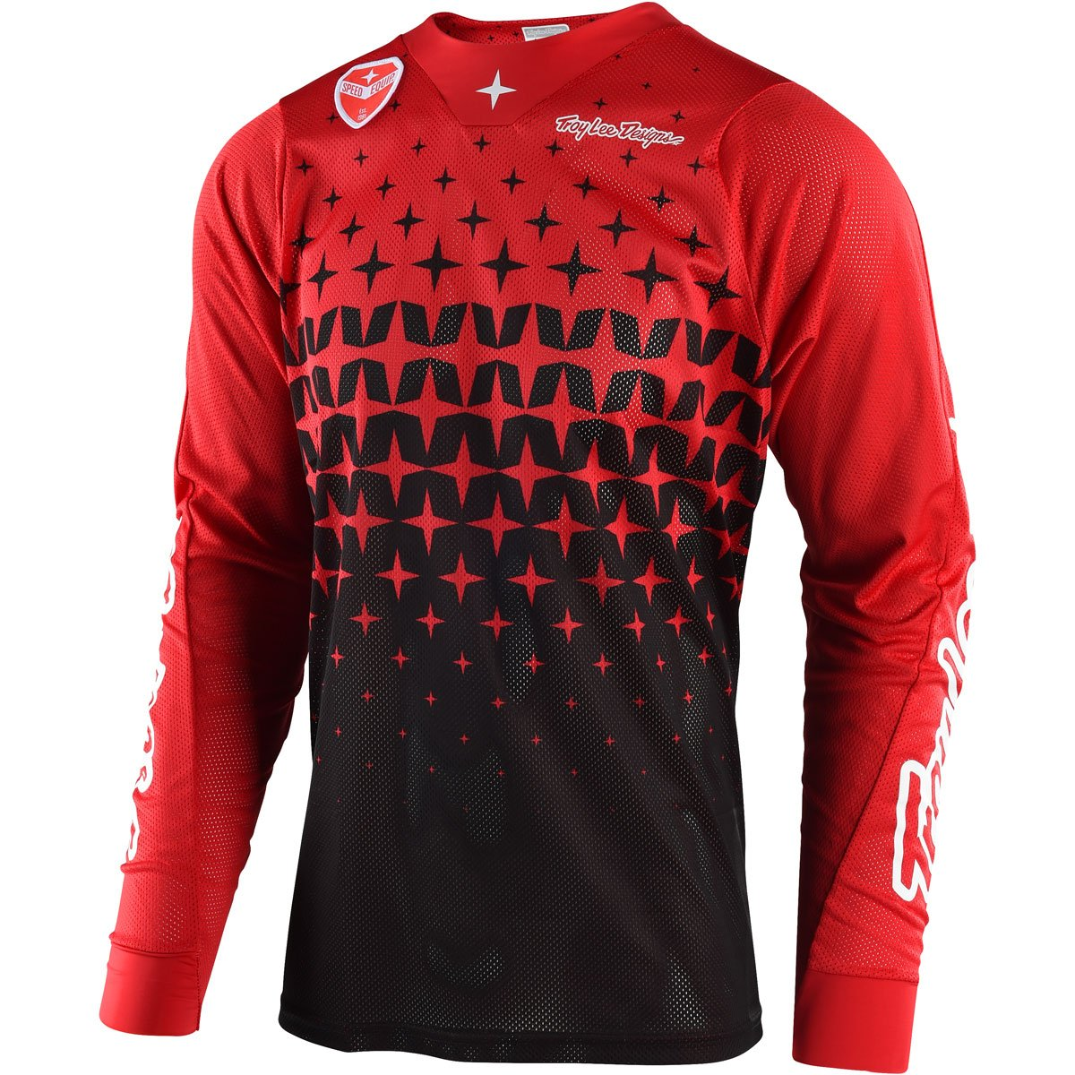 Troy Lee Designs SE Air Megaburst Men's Off-Road Motorcycle Jersey - Red/Black / Large by Troy Lee Designs (Image #1)