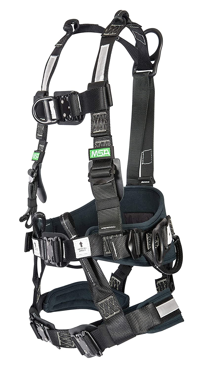msa 10162117 gravity utility harness with back/front/hip pvc coated  d-rings, kevlar back pad and nylon web, small: amazon ca: industrial &  scientific