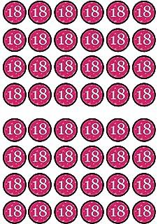 18 Geburtstag Mädchen Violett Essbare Cupcake Topper Stand Up