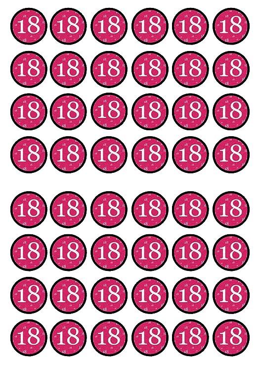 48 Niñas Rosa nº 18 cumpleaños, 18th, comestible Premium de ...
