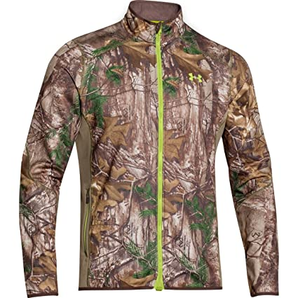 f820a2ad25597 Under Armour Coldgear Infrared Scent Control Fleece Full Zip Jacket - Men's  Realtree Ap Xtra /