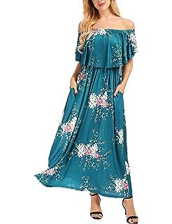 f93011319a5 Amazon.com  Women Summer Plus Size Boho Floral Dress Casual Short ...
