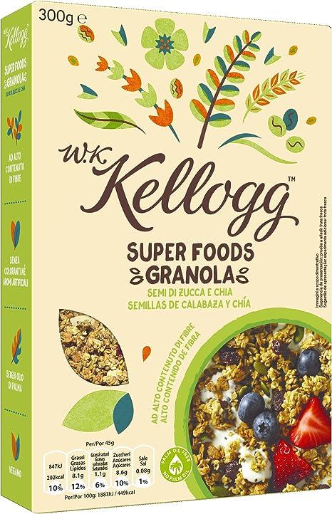 Kelloggs Cereales Super Foods Chía - 2 Paquetes de 300 gr - Total: 600 gr: Amazon.es: Alimentación y bebidas