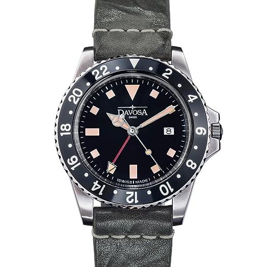 Davosa Swiss Quartz Vintage Diver Hombres Reloj De Pulsera: Amazon.es: Relojes