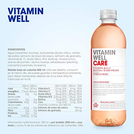 VITAMIN WELL CARE 12 x 500ml Una alternativa moderna, más sana y ...