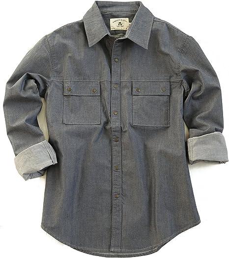 Kakadu Traders Australia Western Style Camisa Manga Larga En Azul, Caqui y beige, hombre, color azul marino, tamaño medium: Amazon.es: Deportes y aire libre