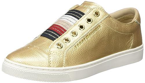 Tommy Hilfiger V1285enus 8z1, Zapatillas para Mujer, Dorado (Mekong), 40 EU: Amazon.es: Zapatos y complementos