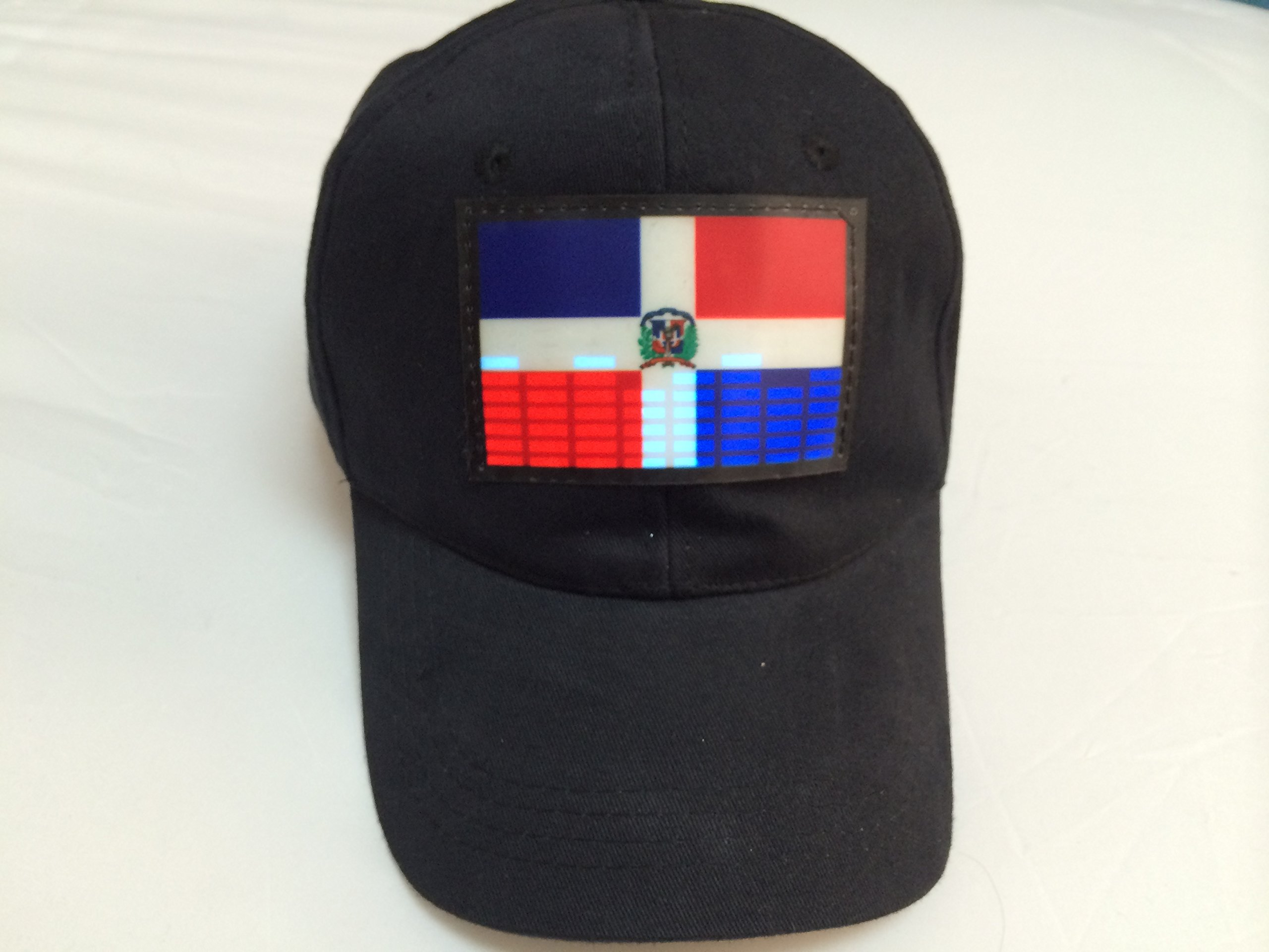Accessory 4u Inc Dj LED Flashing Sound Activated Dominican Republic Flag Led Light up Disco Party Dance Hat