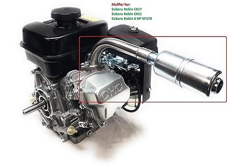 ARSPORT Exhaust with Muffler for: Subaru Robin EX17, EX13, Subaru Robin  EX21, EX27 & Subaru Robin 6 HP SP170