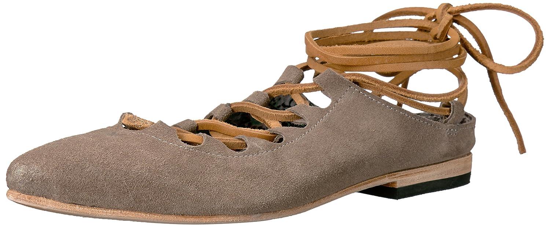 Freebird Women's Enya Ballet Flat B01LEQMKLK 6.5 B(M) US|Grey Suede