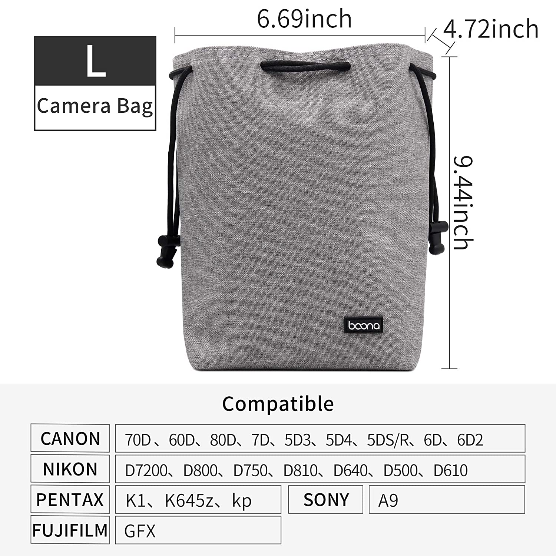 Nikon Pentax y Lentes Sony Boona Canon Funda Impermeable de Terciopelo para c/ámara r/éflex Digital
