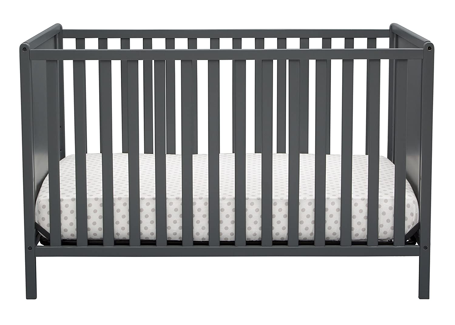 Delta Children Logan 4-in-1 Convertible Crib Charcoal Gray